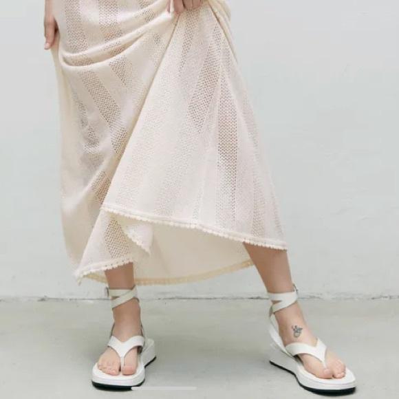 Zara Leather Strap Sandals